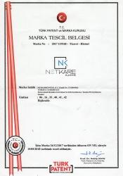 NK Netkare Ajans Marka Tescil Belgesi