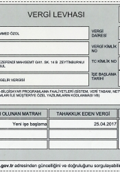 Muhammed ÖZOL Netkare Ajans Vergi Levhası